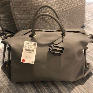 Zara gray handbag